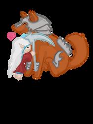 cute elwyn and Char by happymoonwolf