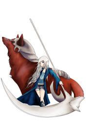 girl and elwyn by happymoonwolf