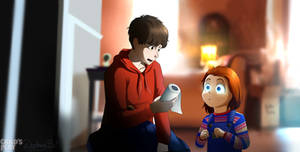 Chucky... This Is Not A Book redraw scene CP 2019