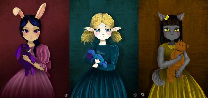 The triptych: Furry Girls