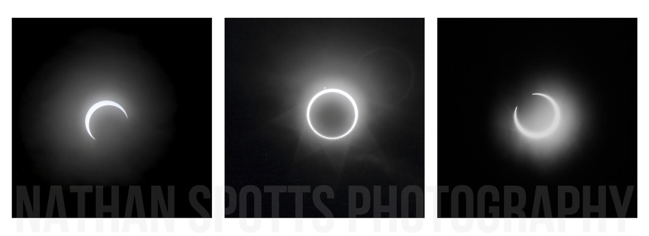 The Passing (Annular Eclipse Tryptich) by nathanspotts