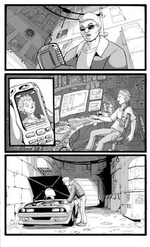 Alleyway Shuffle comic preview