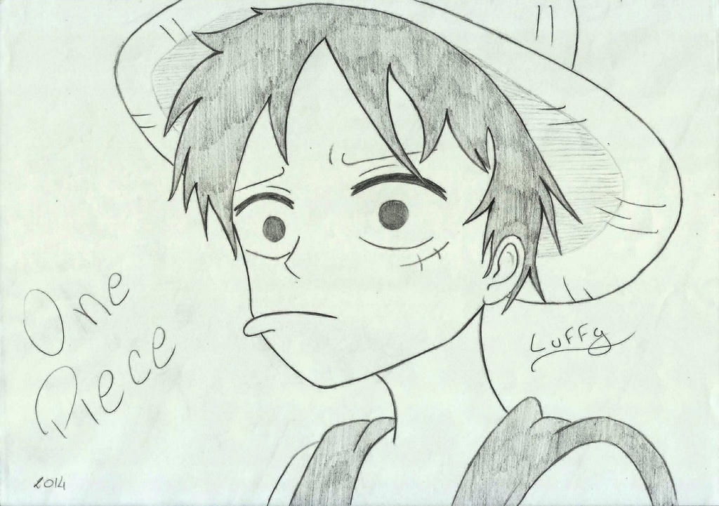 One Piece - Luffy (sketch) By VelhaInfernal On DeviantArt