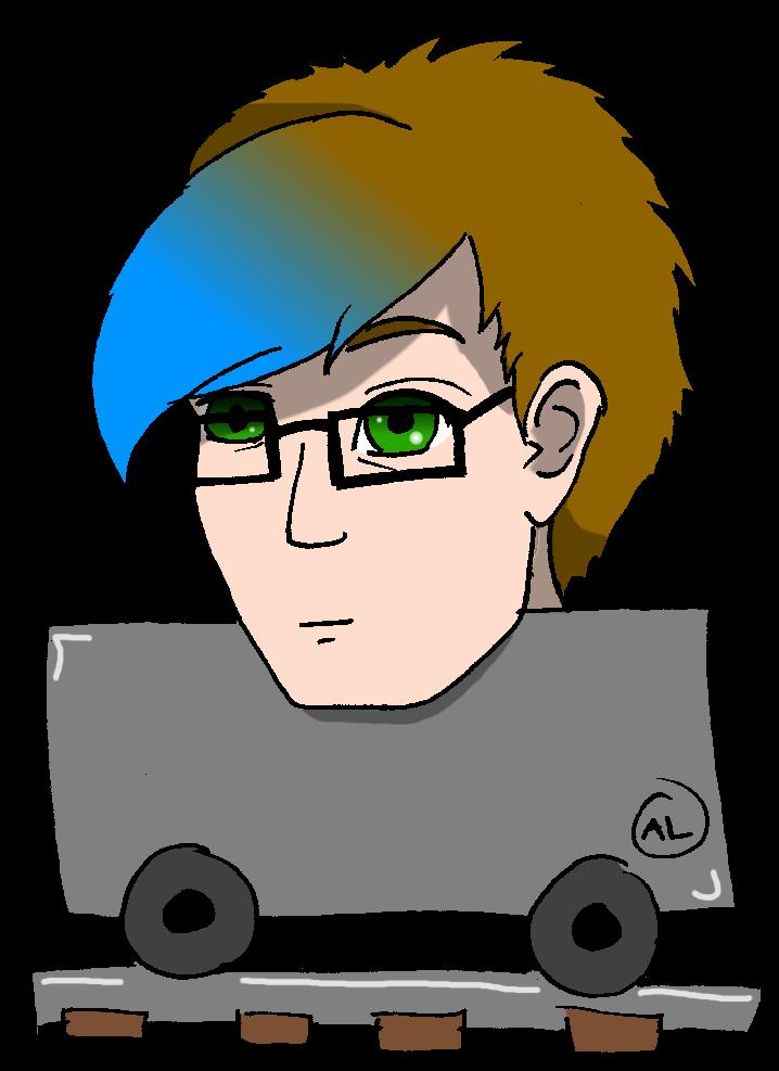 mine cart head by Fuffe-Tuff