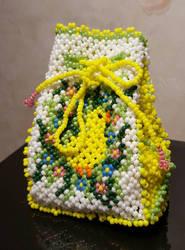 Glas bead easter bag