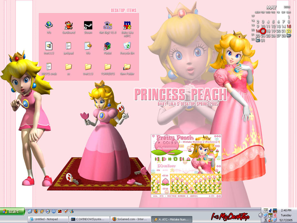 Princess Peach Desktop by BabyLika