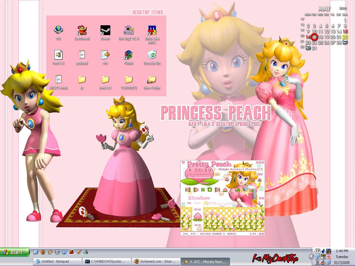 Princess Peach Desktop by BabyLika