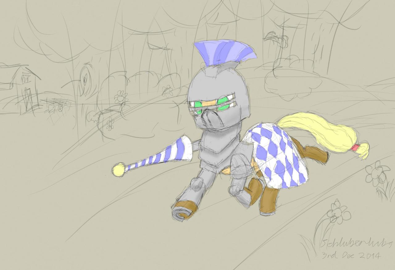 Knight in shining armor by Schluberlubs