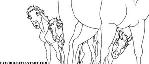 Spirit foals lineart