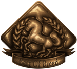 Aurumion Horse: Best of Breed Badge by Cat-Bells