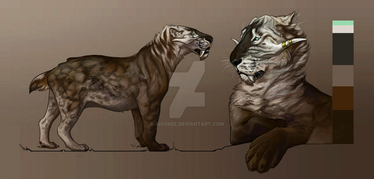 Smilodon Face By Pyroraptor42 On Deviantart: Snap A Smilodon Encounter By HunterxColleen On DeviantArt