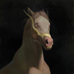 Zombie horse by Aivoree