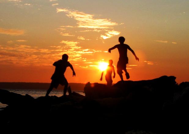 Beach Kids At Play