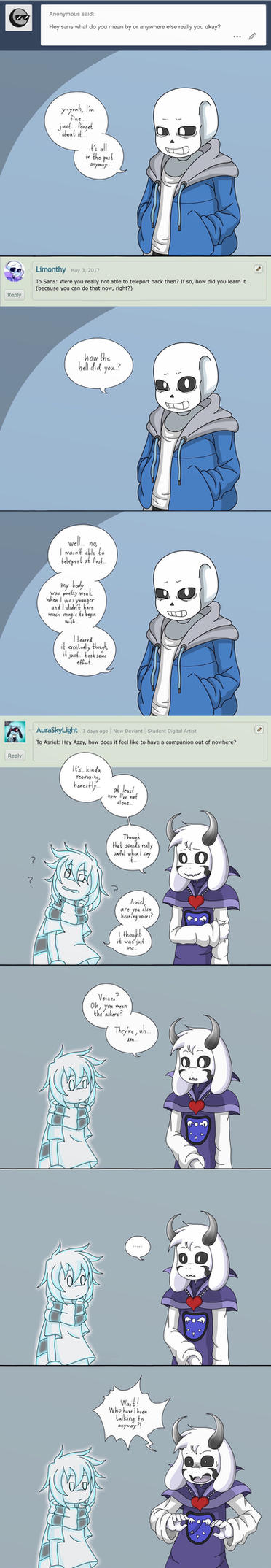 Ask box (Sans and Asriel), Realization by taggen96