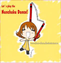 Nunchaku Dance by hon-chan