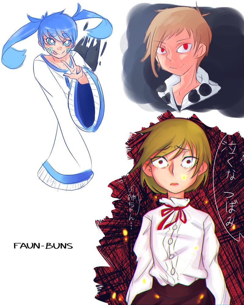 Kagerou Doodles by Faun-Buns