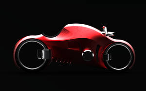 concept electric motorbike red by KingEagle