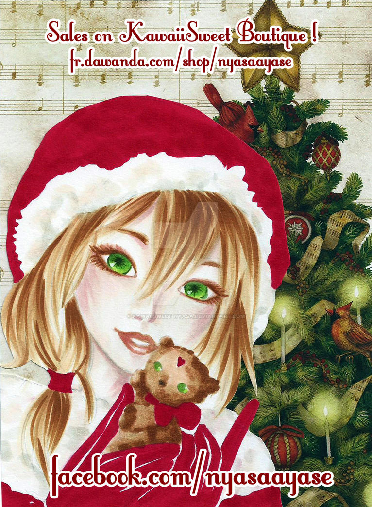 Christmas Card by KawaiiSweet-Nyasa