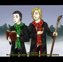 HP Loki and Thor by Cristina-Corruptive