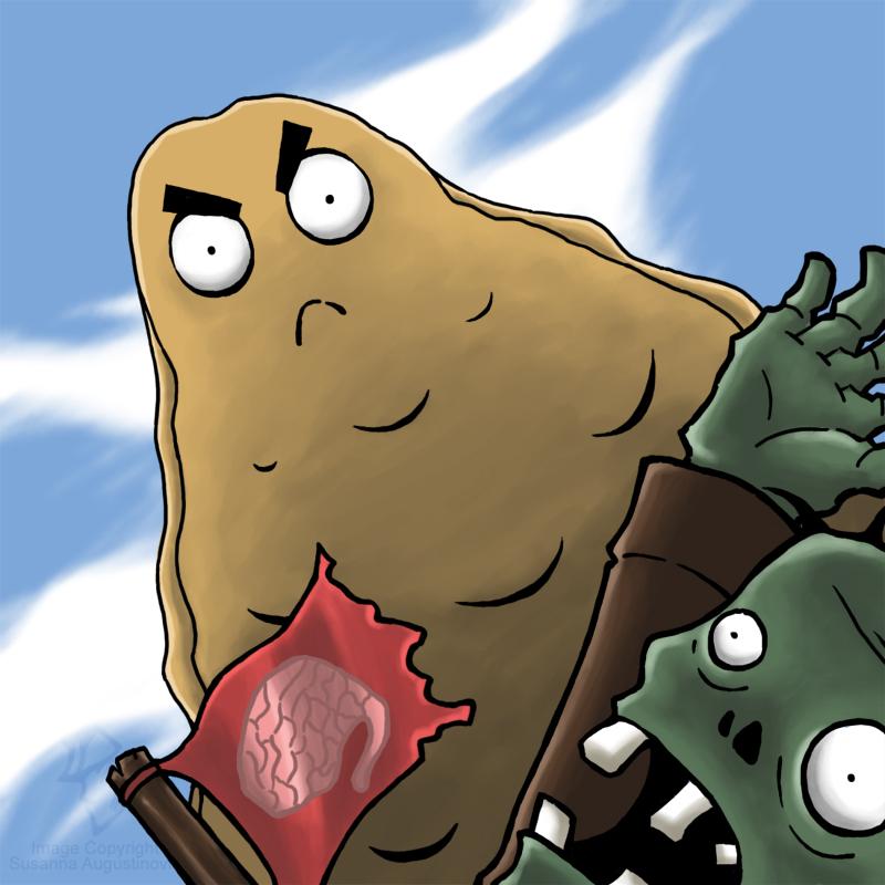 Tall nut vs zombie by golbeza