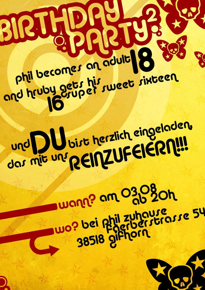 Birthday party invitation card by xslippyx on deviantart birthday party invitation card by xslippyx stopboris Gallery
