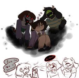 Nightmare dorks by Channydraws
