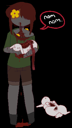 Tumblr made it a habit to give Zombichi rabbits by Channydraws