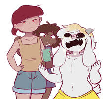 CHARA YOU KNOCKED OVER MY SANDCASTLE YOU F- by Channydraws