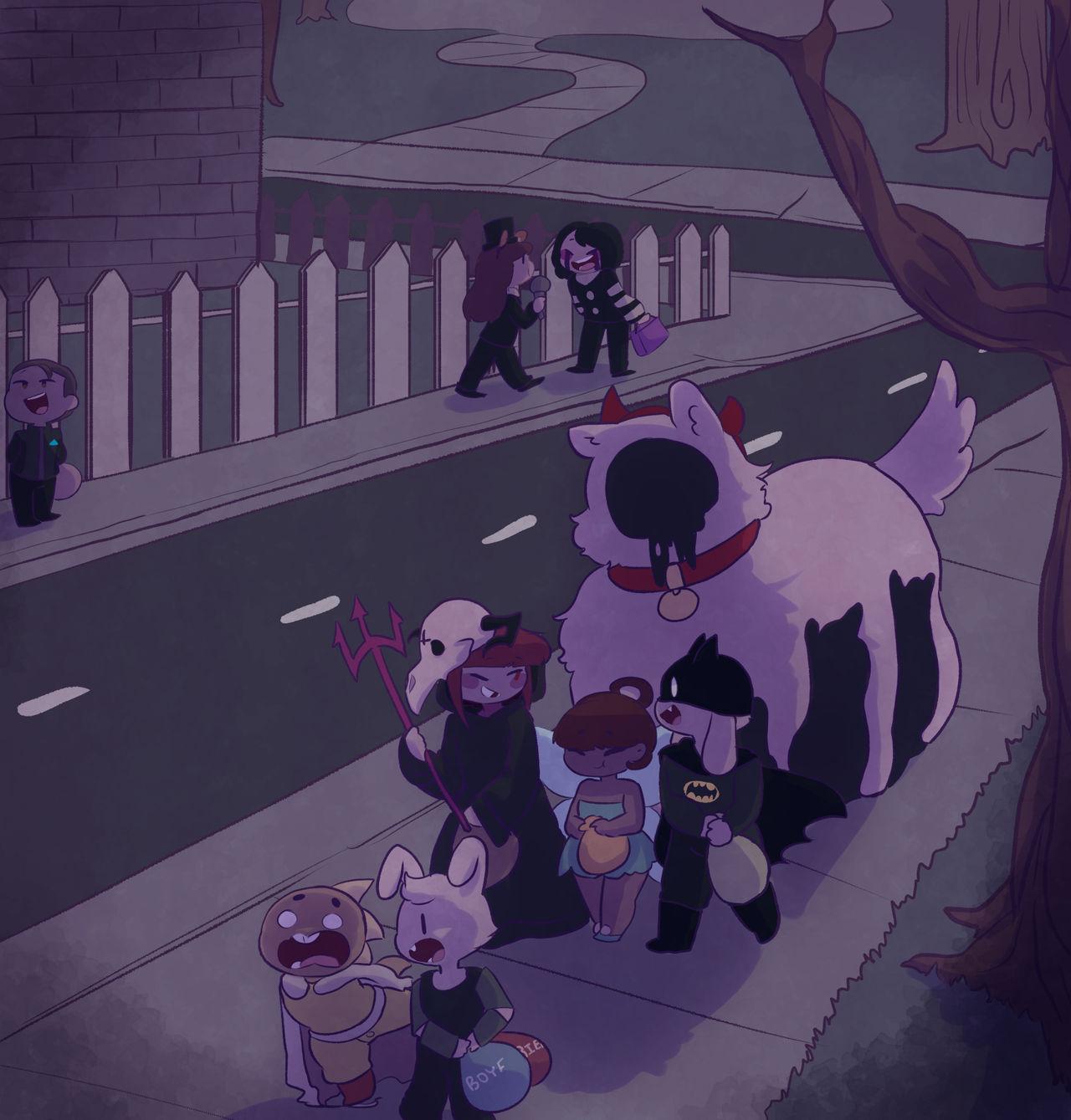 Merry spookmas by Channydraws