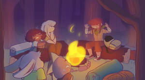 Campfire song~ by Channydraws