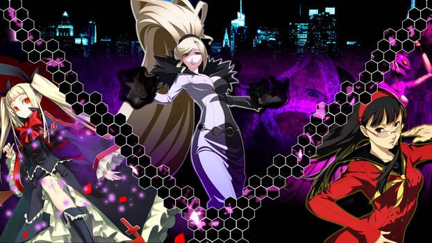 Yukiko Amagi, Rachel Alucard, and Hilda Wallpaper