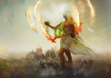Srasama, the Tripartite Goddess by eilidh