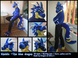 Kheldis the blue dragon half suit by dragon-x2