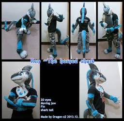 Ren the horned shark half suit by dragon-x2