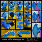 Azurin the blue dragon full suit