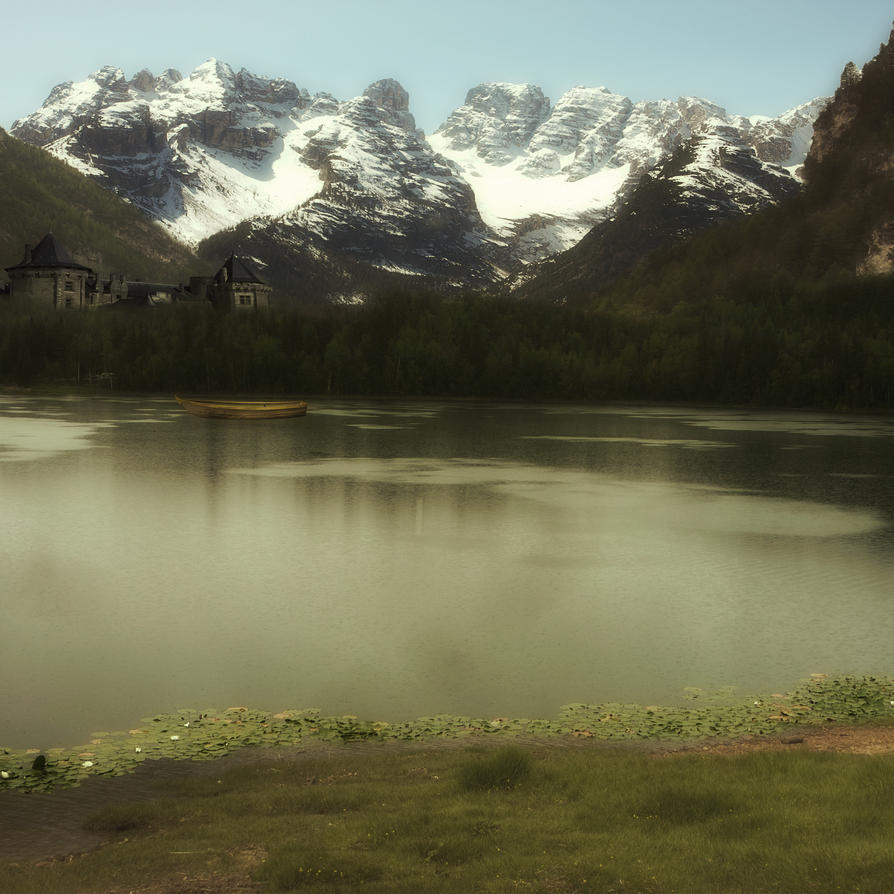 The Lake 2 Premade Background by VIRGOLINEDANCER1
