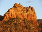 DSC01627ps Camel's Head Mountain from Oak Creek by VIRGOLINEDANCER1