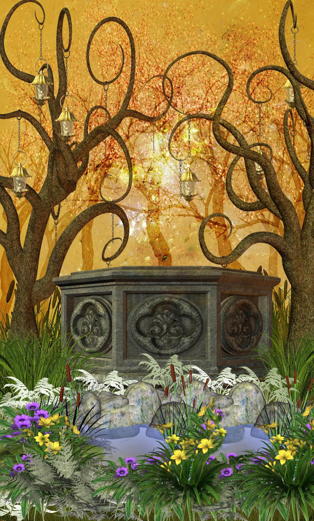Enchanted garden premade background by virgolinedancer1 on deviantart - Enchanted garden collection free download ...