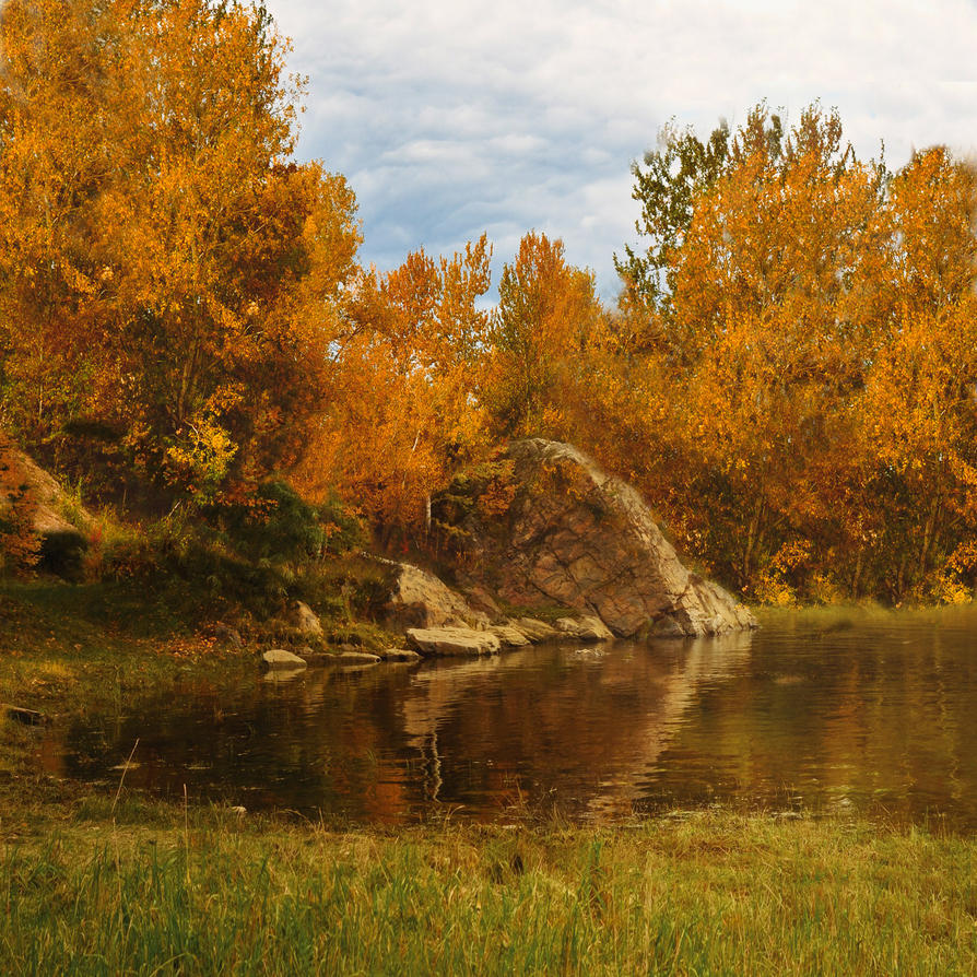 Autumn Pond Premade Background 1 By Virgolinedancer1 On Deviantart