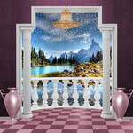 Room with a view premade background