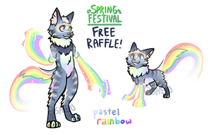 (WINNER) Spring Festival Raffle - Pastel Rainbow by AshenSpectre