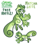 (CLOSED) Spring Festival Raffle: Matcha Latte