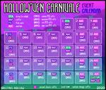 Hollow'ven Carnivale 2020 - Event Calendar by AshenSpectre
