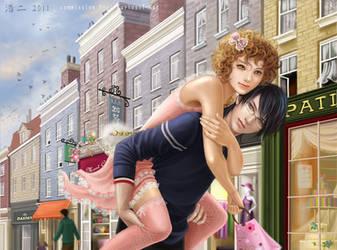Nekora and Shinrai by K-Koji