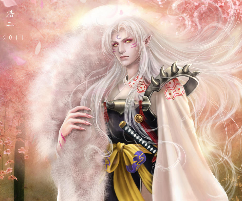sesshomaru wallpaper by k koji on deviantart