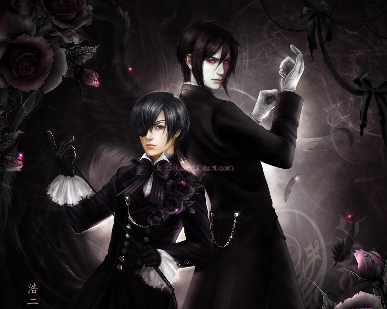 Ciel Phantomhive And Sebastian By K Koji