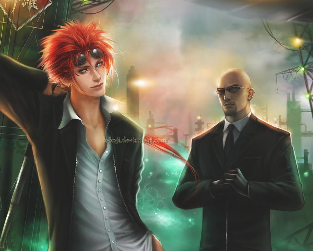 FF7: RENO and RUDE (wallpaper) by K-Koji