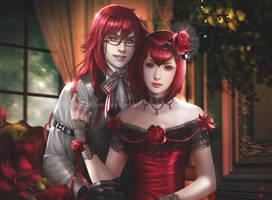 Grell Sutcliff and Madam Red by K-Koji