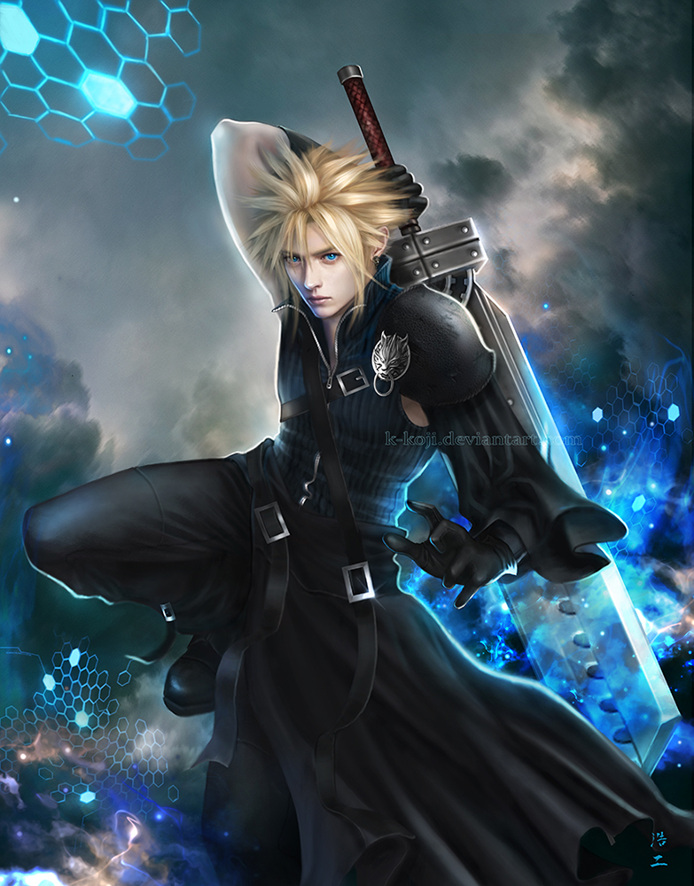 cloud strife by kkoji on deviantart