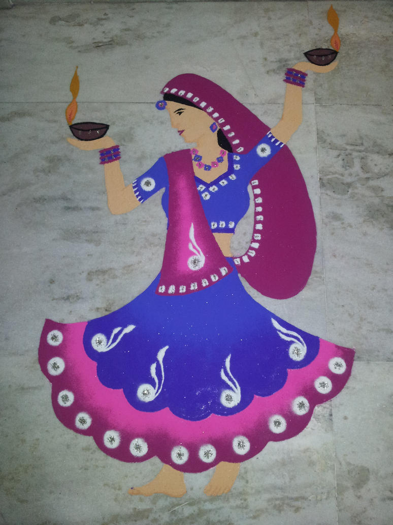 Diwali rangoli by nuklar